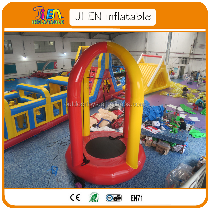 inflatable bungee trampoline for children / inflatable Soft Bungee jump / inflatable bungee jumping