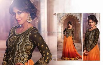 New Bollywood Mouni Roy Designer White Suit Fashionable Anarkali ...