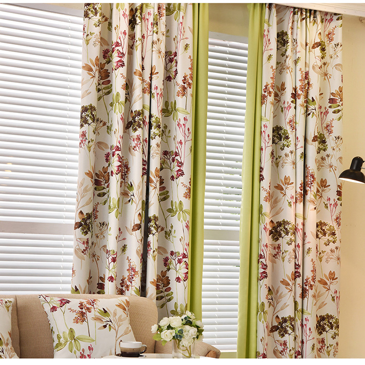 Modern printed pattern home, hospital ,hotel use polyester dimout blackout curtain