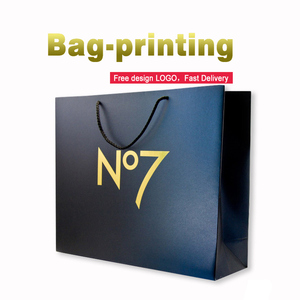 Cheap wholesale custom brand logo printing kraft bag packaging gift paper bags with your own logo