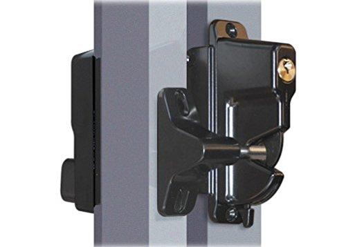 Get Quotations · Keystone Black Zinc Diecast Metal Key Lockable Latch | 2  Sided | Keyed Alike |
