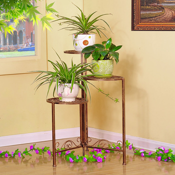 Xy1315 Garden Art Wholesale Flower Stand Shelf,Planters Folded Rack ...