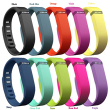 2015 Colorful Silicon Rubber Replacement Fitbit Flex Band Large Small Activity Bracelet Wrist Strap With Metal Clasp Wristband