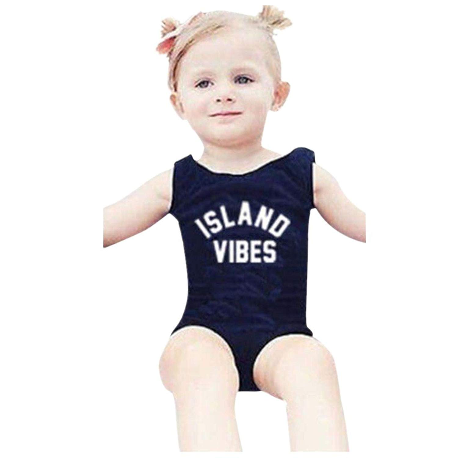 a9fb1444980c8 Get Quotations · FarJing Hot Sale Newborn Swimwear Toddler Girls Solid  Letter Print One Piece Swimsuit Clothes