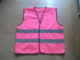 EN471 high visibility pink safety vest with multi pockets