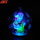 Lighted glass ball christmas gift ideas for friends with Santa Claus inside