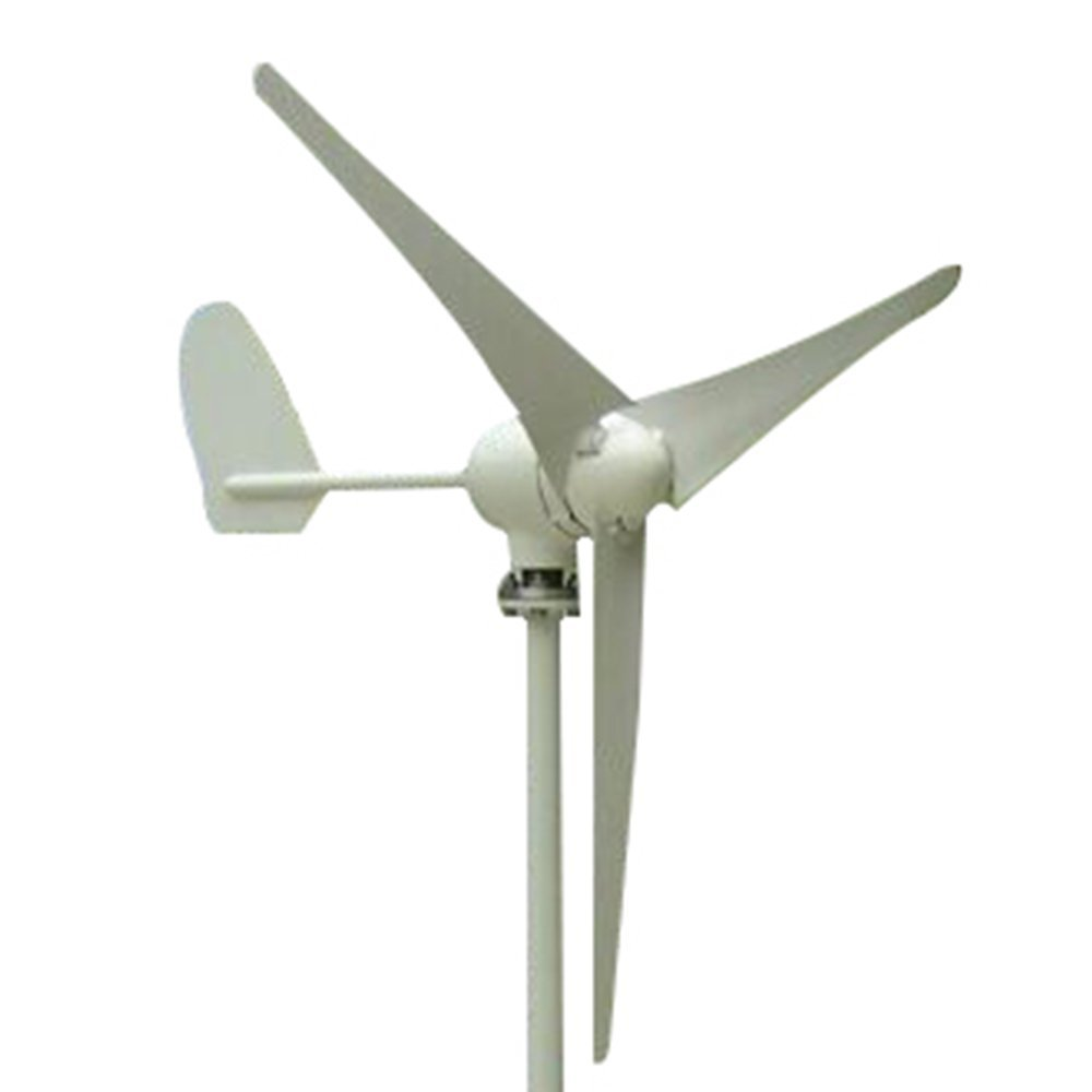 Vogvigo Wind Turbine 3 Blades DC 12V/24V Wind Turbine Generator 300W-500W Hybrid Controller Wind Turbine Kit with Hybrid Controller for Power Supplementation