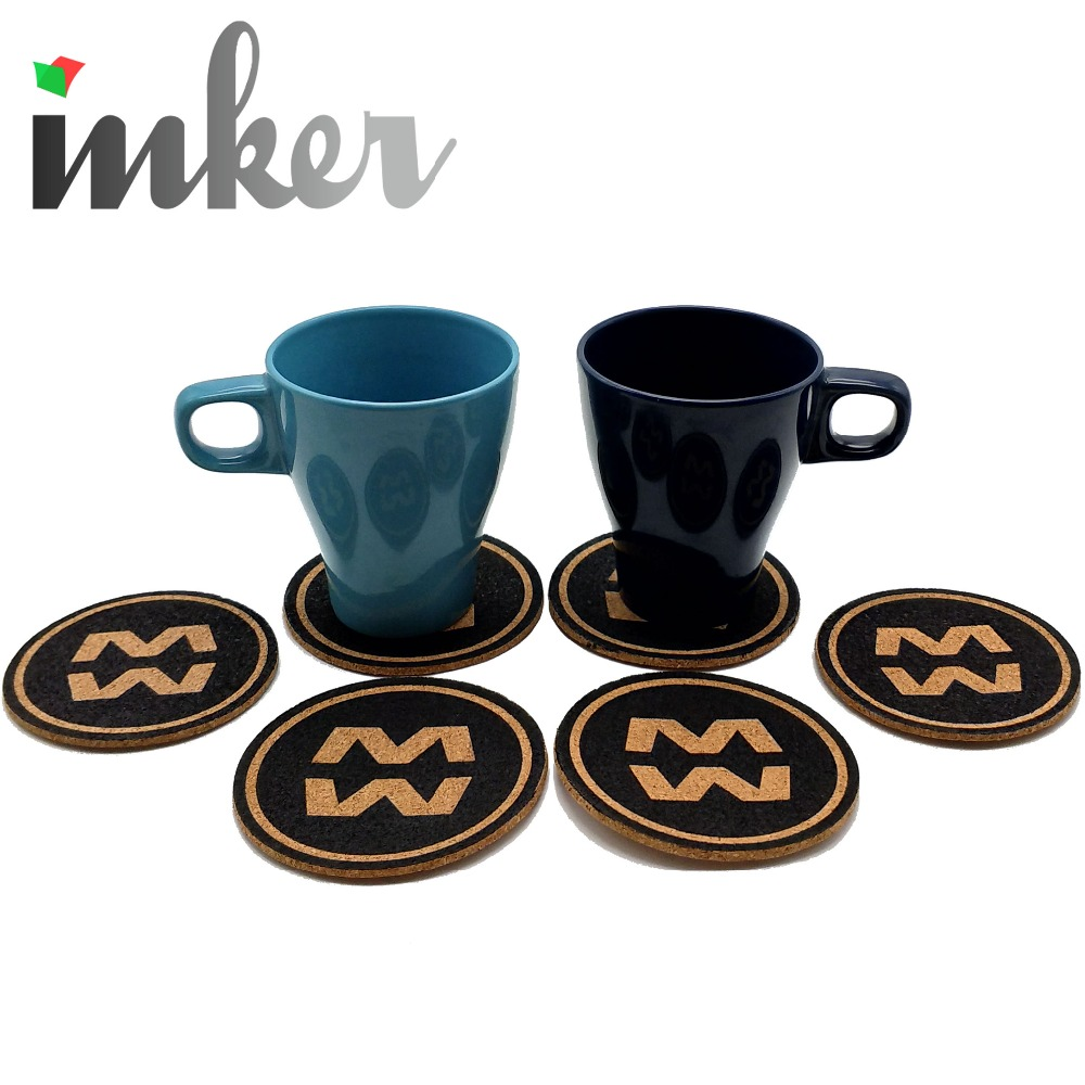 Factory wholesale recyclable wood cork coasters for drinks