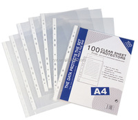 wholesale 0.04 thickness 11 hole a4 clear waterproof document sheet protector for office stationery
