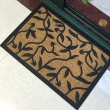 pvc or rubber backed coconut coir rugs