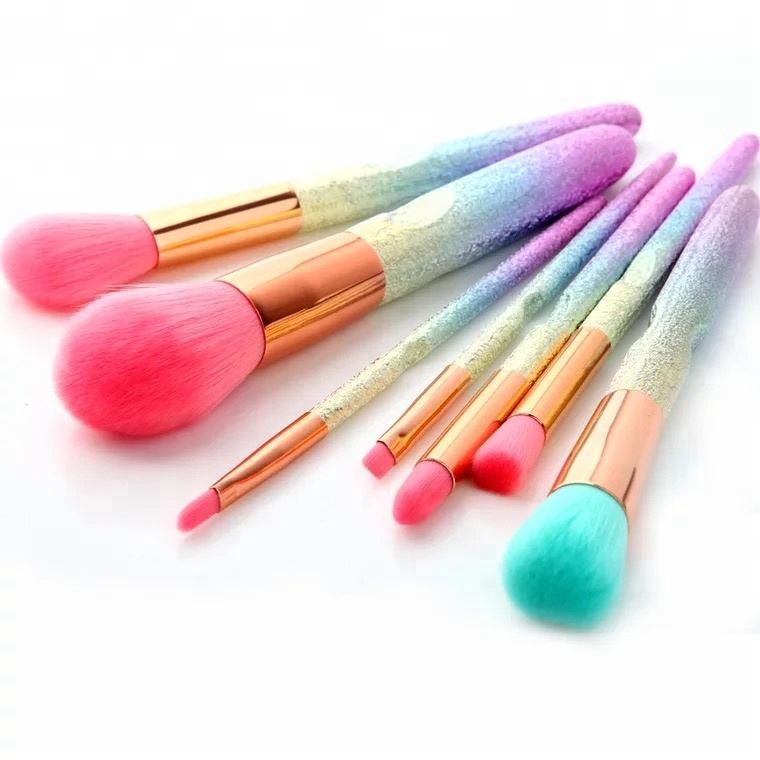 Luxury 7pcs professional custom logo makeup <strong>brushes</strong> manufacturer