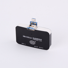Manufacturers Wholesale Multi-function Mobile phone OTG Card Reader Combo HUB 3in-1 Multi-function Hub