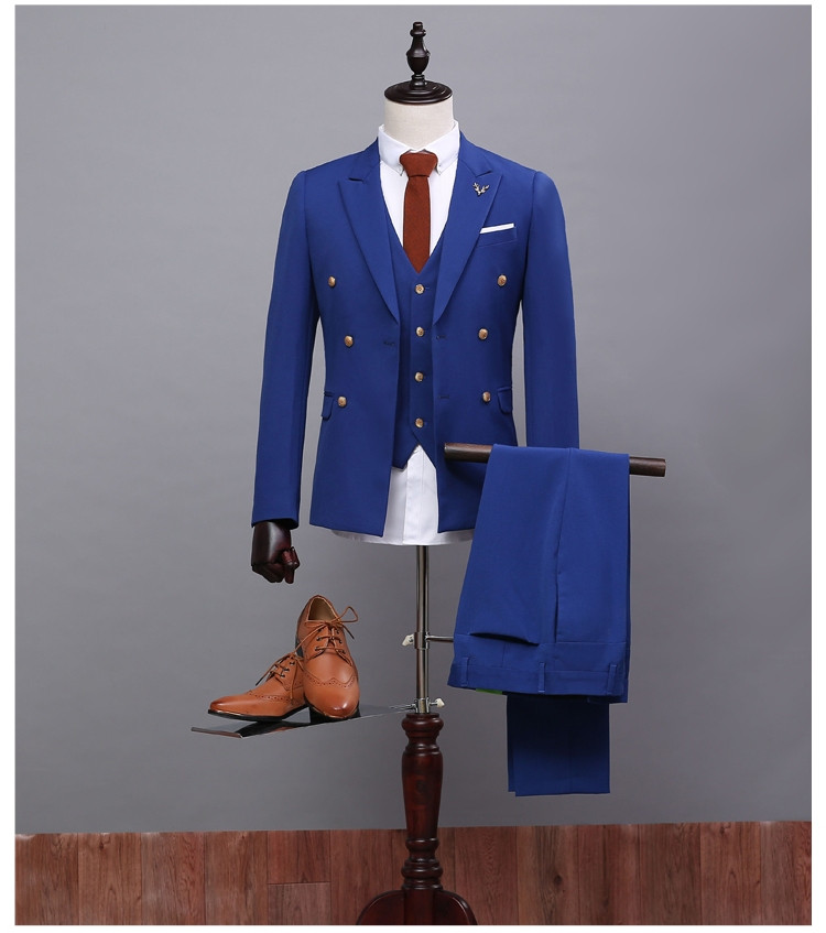 Formal Occasion Males Suits Slim Fit Groom Tuxedos Wedding Suits ...