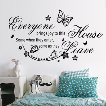 Muur Sticker Ontwerpen.Home Decor Kunst Aan De Muur Sticker Vinyl Kunst Ontwerpen 3d Citeren Muur Stickers Letters Vreugde Huis Vlinder Kunst Aan De Muur Muurschildering