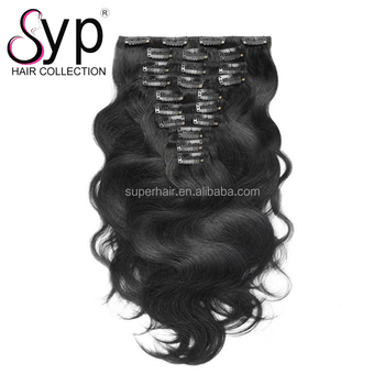 Double Drawn Raw Indian Kinky Curly Weave Clip In Hair Extensions