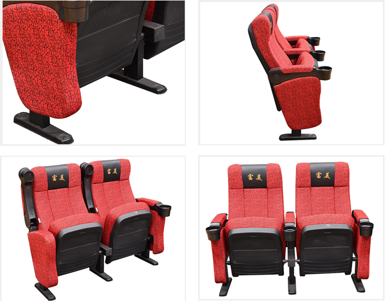 Custom durable cinema hall chair new movie theater seat