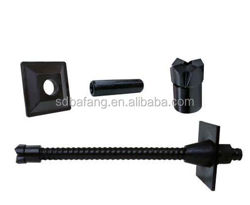 Self drilling hollow anchor bolts anchor bit and nut
