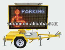 Solar LED VMS Trailer, new technology products solar led display trailer VMS