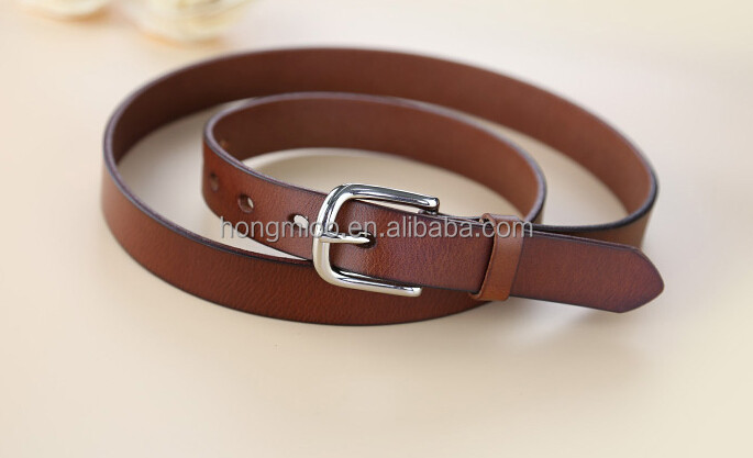 New arrival! Cowhide women belt oil tanned top genuine leather belt accessories for women