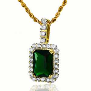 Wholesale 925 Sterling Silver colored gemstone pendant, Cheap green zircon charm pendant, Fashion party gift jewelry