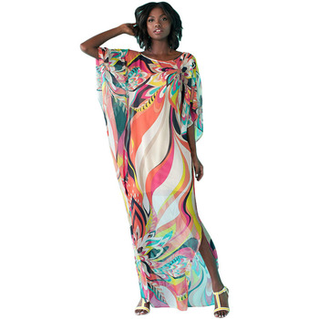 3062ebcde Summer Casual Woman Lady Fashion Long Hot Night Party Floral Print Maxi Dress  Kitenge Dress Designs