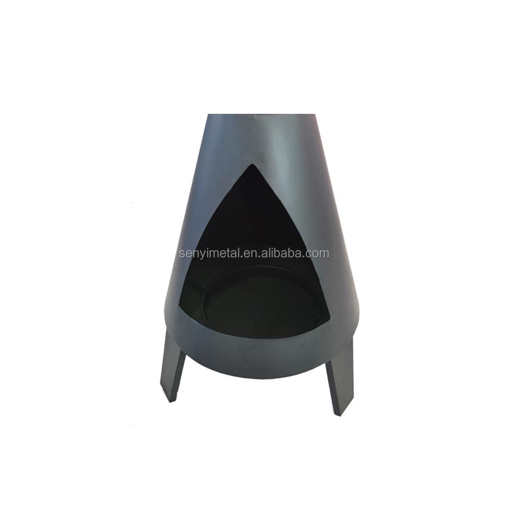 Design de mode en acier bois charbon foyer pour patio ...
