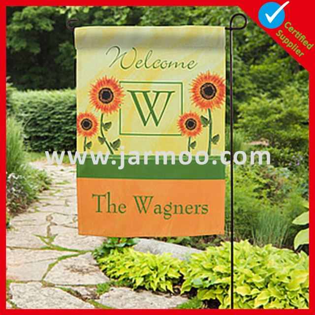 Custom Printing Polyester Popular Garden Flag Stakes Wholesale For  Promotion Advertising