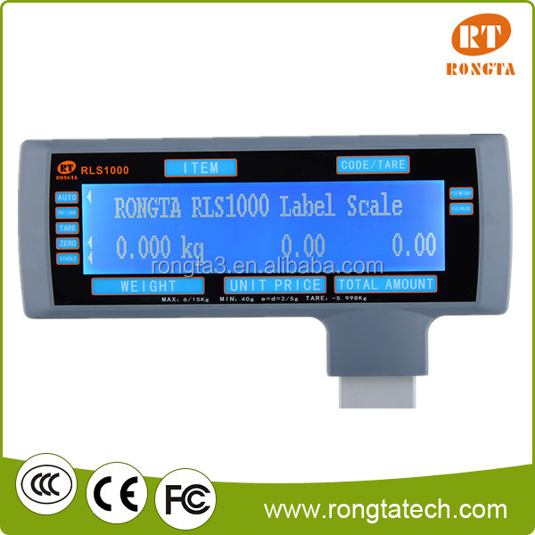 Barcode weight scale support both label and receipt printing
