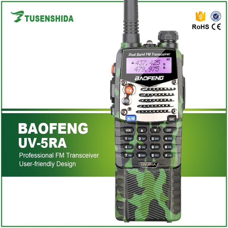 Military Camouflage color 10km wireless Baofeng UV-5RA HAM Two Way Radio with FM CB and large battery Transceiver