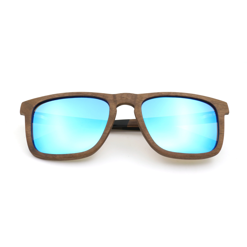 Cheap Wholesale Men Sunglasses Bamboo Sunglasses Handmade Wooden Frame Polarized Mirror Lens Classic Gafas de sol UV400