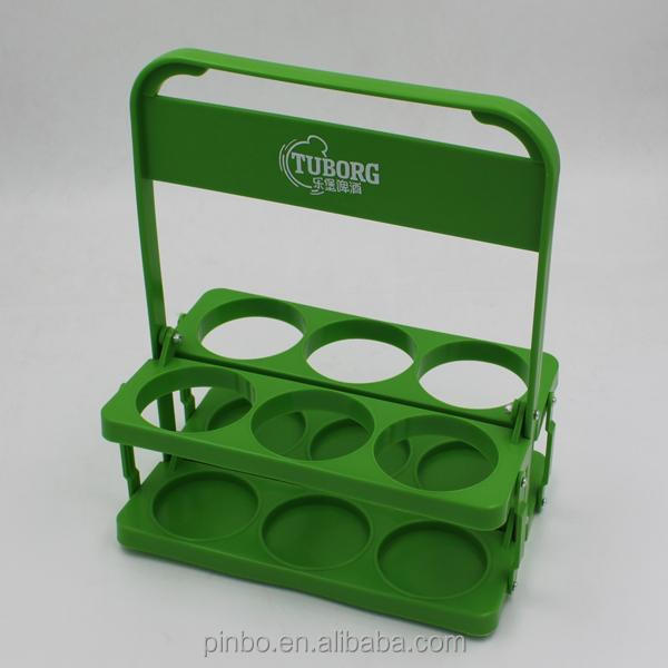 Foldable Plastic 6 Pack Beer Bottle Carrier