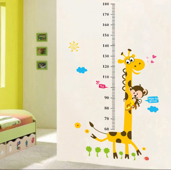 Birthday Giveaways Wall Decoration Sticker Measuring Kids Height ...