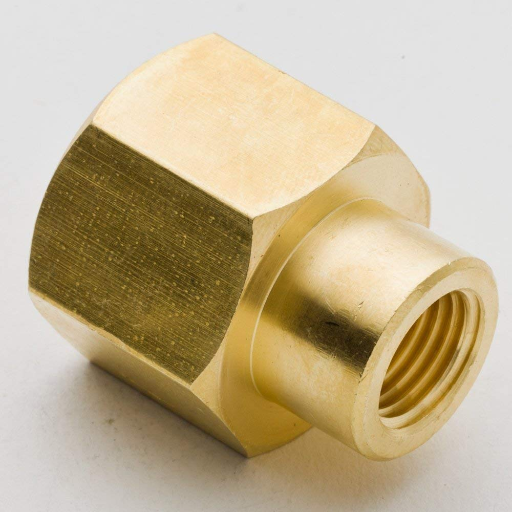 "2Pcs 1/4"" X1/8"" 3/8"" X1/8"" 3/8"" X1/4"" 1/2"" X1/4"" 1/2"" X3/8"" NPT Female Reducer Coupling Brass Hose Tube Pipe Fitting(Model:3300-1) 3300 DB"