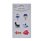 Animal Shapes Customized Size Embellishments Wood Decoration Wooden Crafts for Scrapbooking