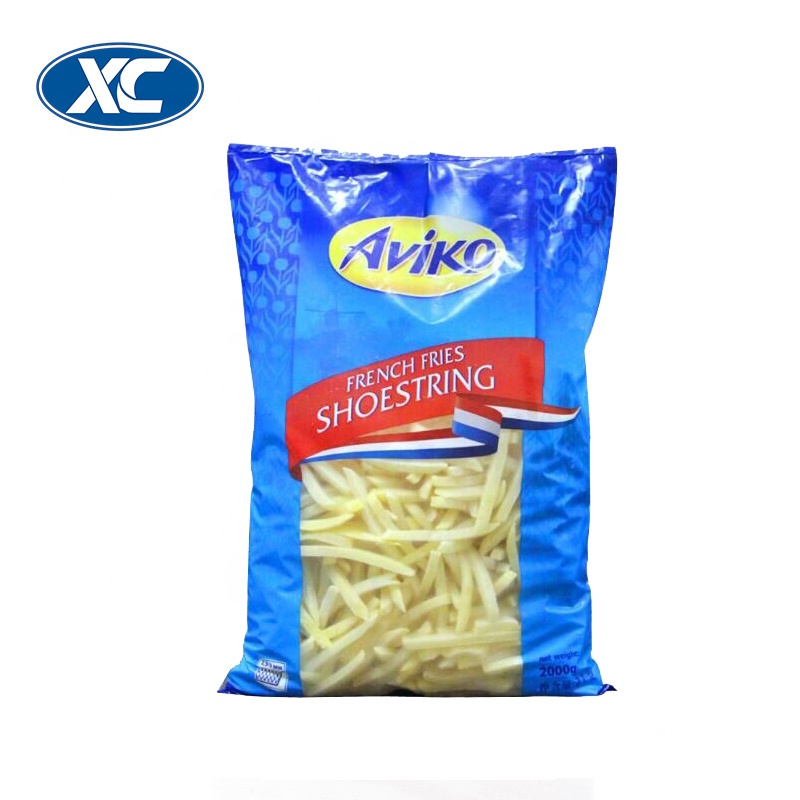 american style glossy finished heat seal frozen potato french fries plastic packaging bag