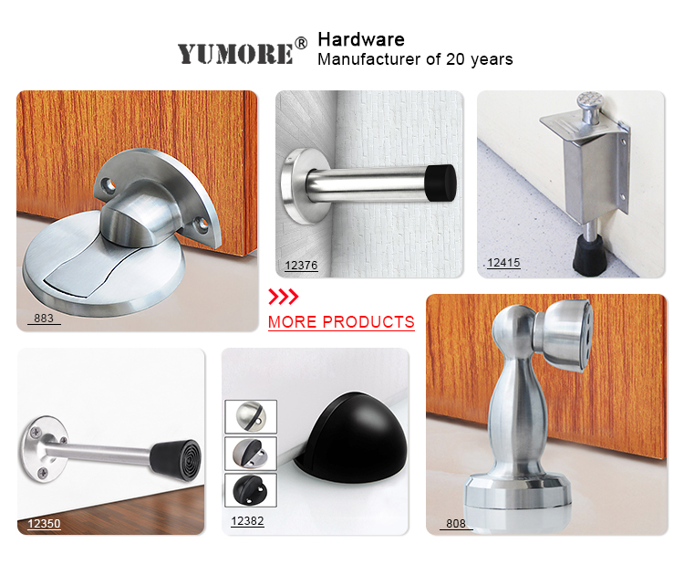 Diseño moderno deslizamiento tapón de goma para puerta de ducha de cristal