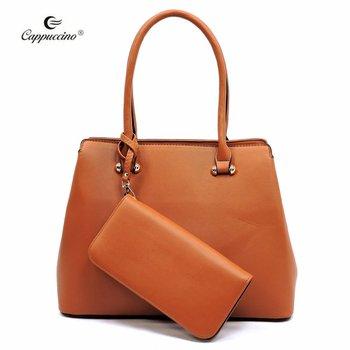 4405665728 2019 Cappuccino Womens PU Leather Shoulder Bags Top Handle Cross Satchel 2  pieces Handbag Set on