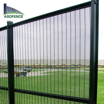 Welded Wire Mesh Powder Painted Clearvu Security Fence Prison For South Africa