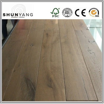 Select Wood Floor Rustic Cde Grade White Oak Engineered Flooring Smoked