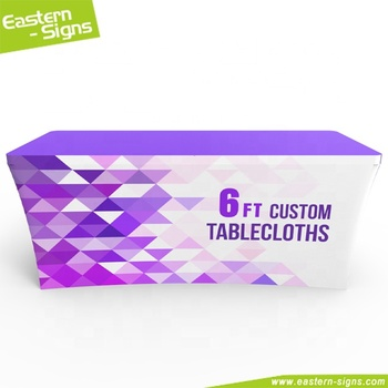 Promotional Tradeshow And Exhibition Fitted Stretch Table Cover/Custom Table Cloth