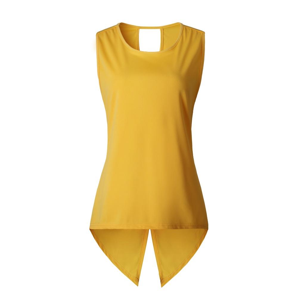 Summer Sexy Sleeveless T-shirt Yellow Cross Sexy Ladies Sleeveless O-neck Slim Dovetail T Shirt Women Plus Size 3XL фото