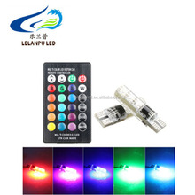 <span class=keywords><strong>Mobil</strong></span> <span class=keywords><strong>DIPIMPIN</strong></span> Membaca lampu RGB T10 5050 6SMD 12 V super cahaya led 500LM