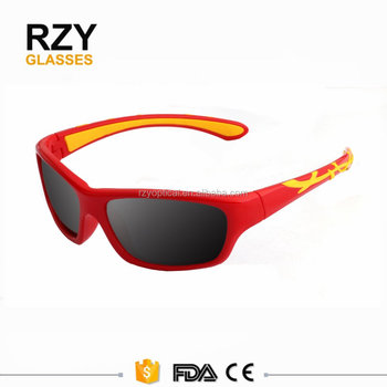 b7aa738c7 Único animal bonito impressão do logotipo para crianças óculos de sol TAC  Lente inquebrável TPE