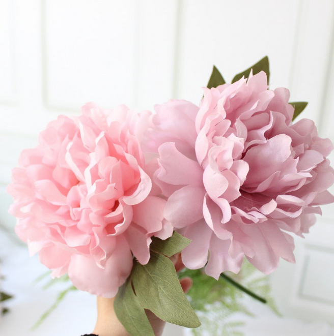Single stem silk flowers cheap wholesale factory artificial peony