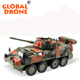RC Metal Tank Car Chassis All Metal Tracked Vehicle Big Size Large Load Track Car with sound