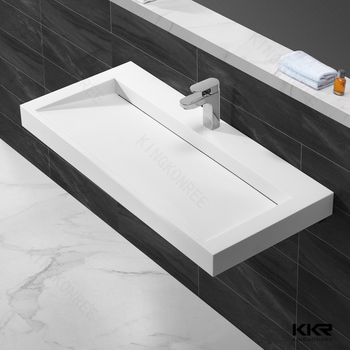 Stone Wall Hung Sink , Engineered Stone Sink , Stone Trough Sink