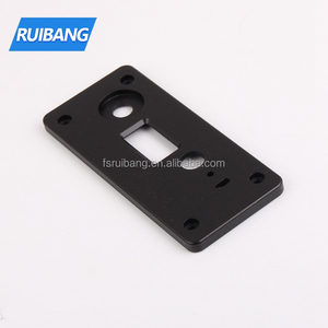 Custom colored metal electrical faceplates cnc machining hardware aluminum faceplate