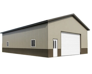 Portable Prefabricated Steel Strcutre Warehouse Pole Barn House