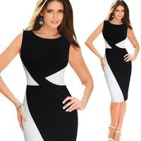 Highyt Quality Fashion Office Formal Dress Plus Size Elegant Black office Dress For Women