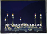 Indian building Taj Mahal decoration led picture for wall, wall picture with led light, artwork design
